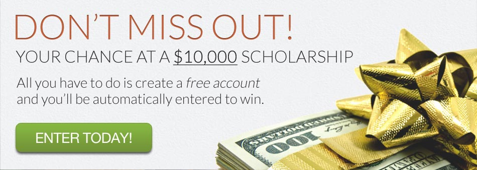 Register with CollegeXpress for a chance at $10,000